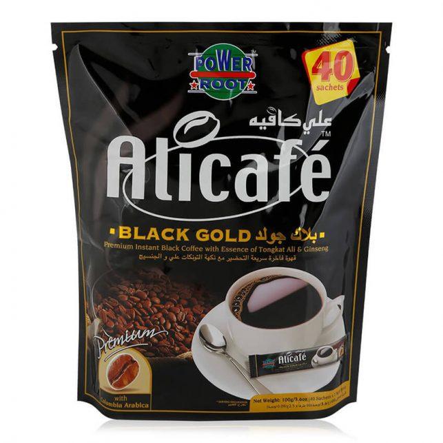 قهوه علی کافه مشکی مدل بلک گلد Alicafe Black Gold
