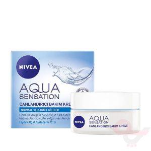خرید و قیمت کرم مرطوب کننده و شاداب کننده نیوآ مدل Aqua Sensation 50ml