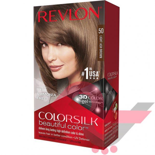 رنگ مو رولون شماره 50 قهوهای مایل به خاکستری روشن Light Ash Brown