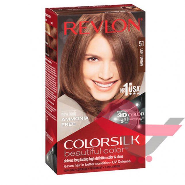 رنگ مو رولون شماره 51 قهوهای روشن Light Brown