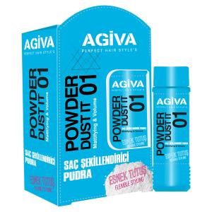پودر حالت دهنده آگیوا آبی شماره 01 Agiva Dust it حجم 20 گرم