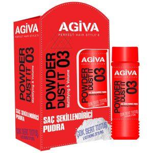پودر حالت دهنده مو آگیوا شماره 03 Agiva Powder Dust it