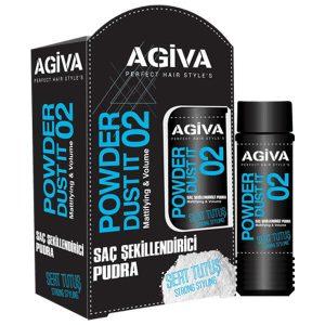 پودر حالت دهنده مو آگیوا مشکی شماره 02 Agiva Powder Dust it