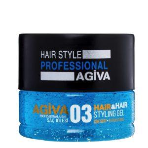 ژل موی آگیوا آبی شماره 03 مدل Perfect Hair Style حجم 700ml