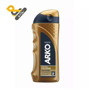 افتر شیو آرکو مدل گلد پاور Arko Gold Power حجم 250ml