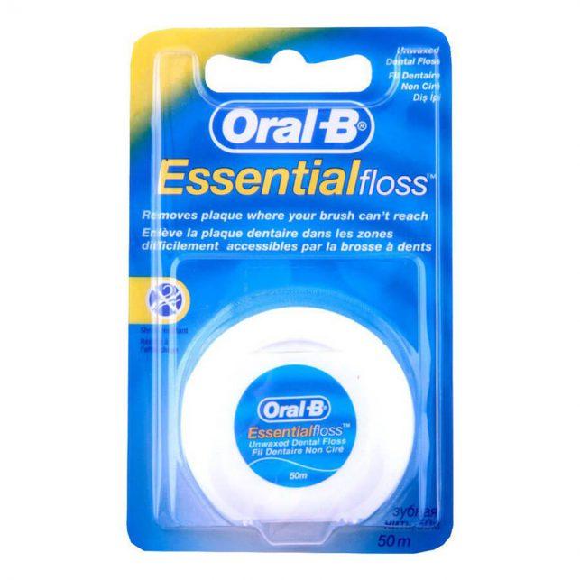 نخ دندان بدون طعم اورال بی مدل Essential Floss طول 50 متر