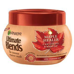 ماسک مو گارنیه حاوی شیره افرا و روغن کرچک مدل Maple Healer