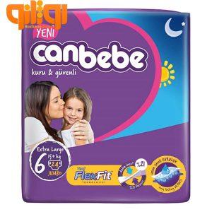 پوشک بچه جان ب ب سایز 6 بسته 24 عددی Canbebe