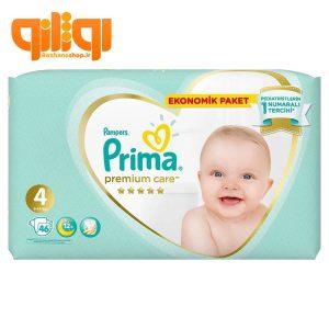 پوشک بچه پریما پمپرز سایز 4 بسته 46عددی Premium Care