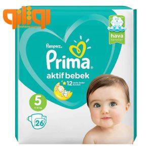 پوشک پریما پمپرز سایز 5 بسته 26 عددی Aktif Bebek