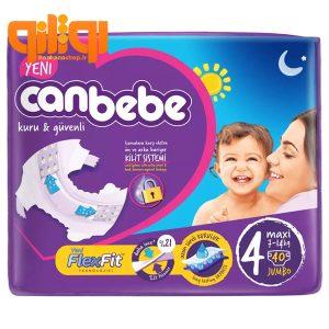 پوشک بچه جان ب ب سایز 4 بسته 40 عددی Canbebe