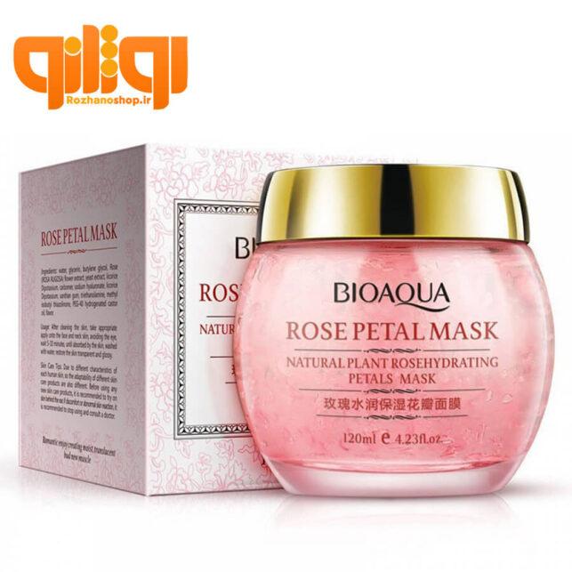 ماسک گلبرگ صورت گل رز بیوآکوا Rose Petal Mask وزن 120ml